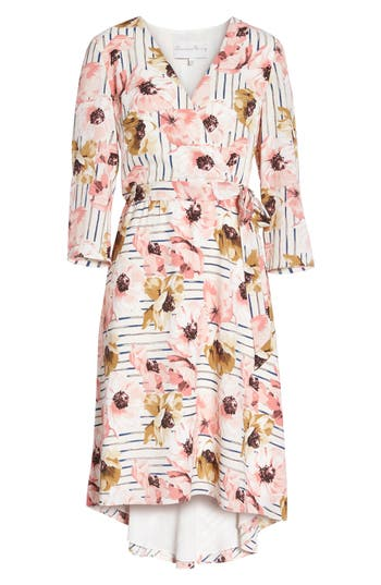 Charles Henry Floral High/low Dress, Pink