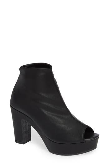 Cordani Tyra Peep Toe Platform Bootie - Black