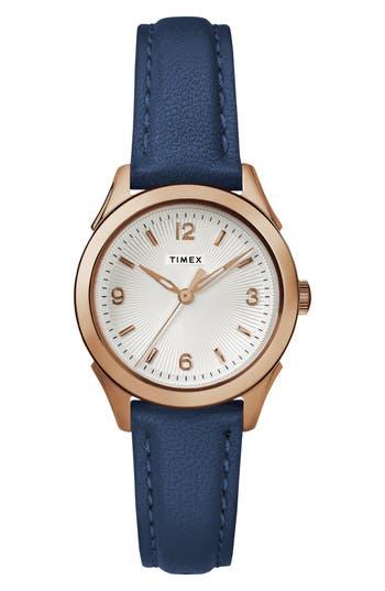 Timex Torrington Leather Strap Watch, 27Mm