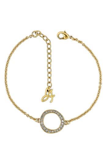 ADORE Organic Crystal Circle Bracelet, Gold
