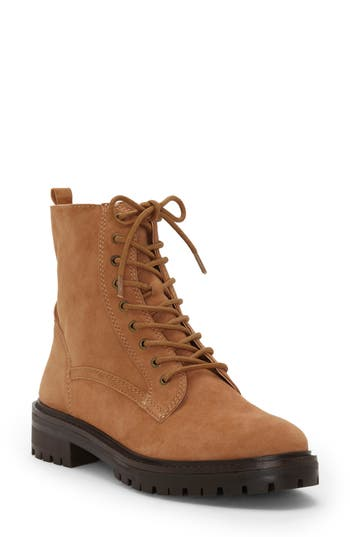 Lucky Brand Idara Lace-Up Bootie, Beige