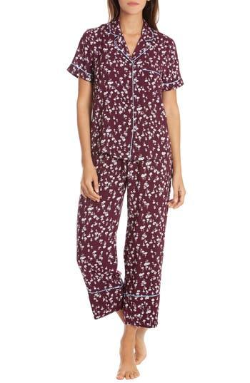 In Bloom By Jonquil Crop Pajamas, Burgundy