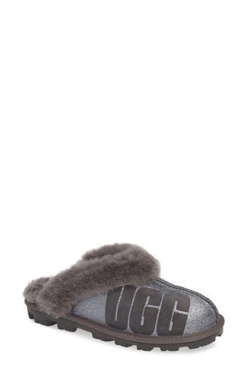 Ugg Sparkle Genuine Shearling Slipper, Grey