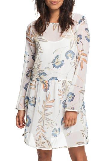 Roxy Amazing Wave Print Dress, White
