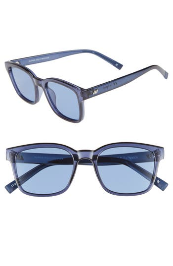 Le Specs Alpha Basic 5m Rectangular Sunglasses - Navy