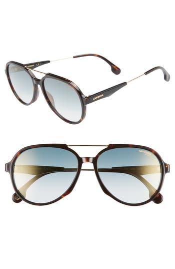Carrera Eyewear 5m Aviator Sunglasses - Dark Havana