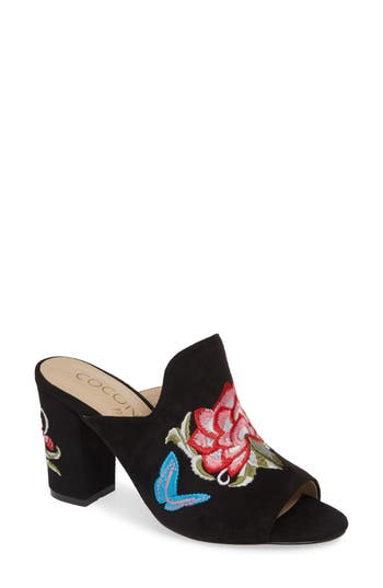 Coconuts By Matisse Frill Embroidered Mule, Black