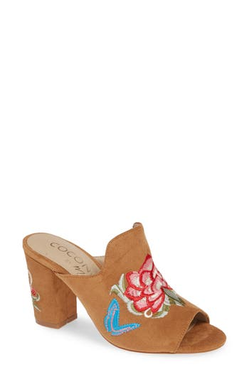 Coconuts By Matisse Frill Embroidered Mule, Brown