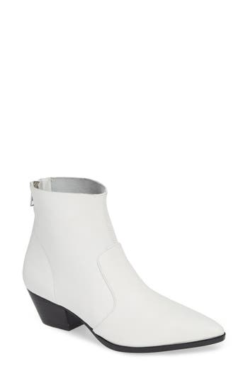 Cafe Boot, White Leather