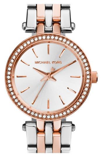 Women's Michael Kors 'Petite Darci' Crystal Bezel Bracelet Watch, 26Mm