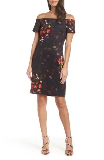 Sam Edelman Floral Off The Shoulder Dress, Black