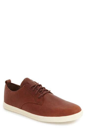CLAE 'Ellington' Sneaker in Chestnut Oiled Leather