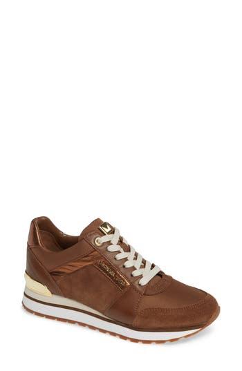 Billie Perforated Sneaker, Dark Caramel