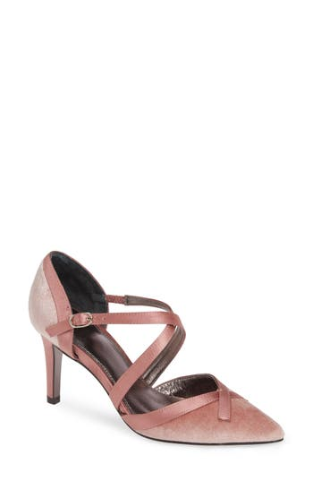 Vintage Style Shoes, Vintage Inspired Shoes Womens Adrianna Papell Hepburn Strappy Pump Size 11 M - Pink $129.95 AT vintagedancer.com