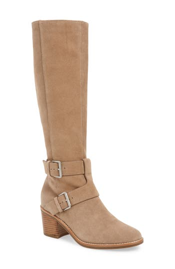 Gentle Souls By Kenneth Cole Verona Knee-High Riding Boot, Beige