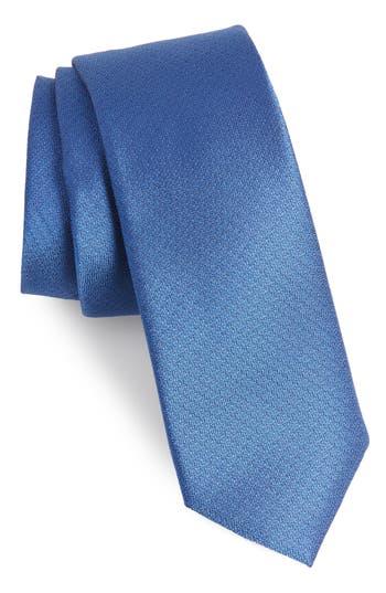 1960s – 70s Men's Ties   Skinny Ties, Slim Ties Mens Calibrate Clara Solid Silk Skinny Tie Size Regular - Blue $59.50 AT vintagedancer.com