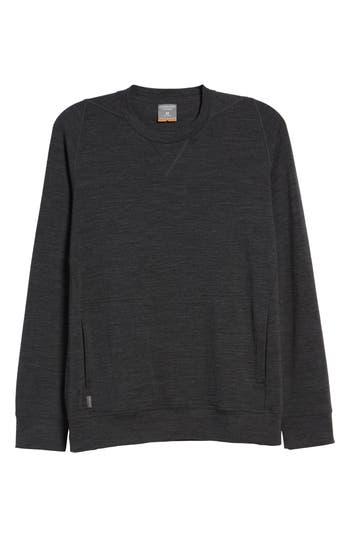 Icebreaker Shifter Merino Wool Blend Crewneck Sweater, Grey