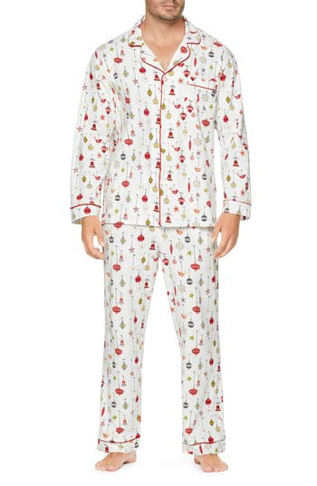 BEDHEAD Classic Pajamas in Off White/ Red