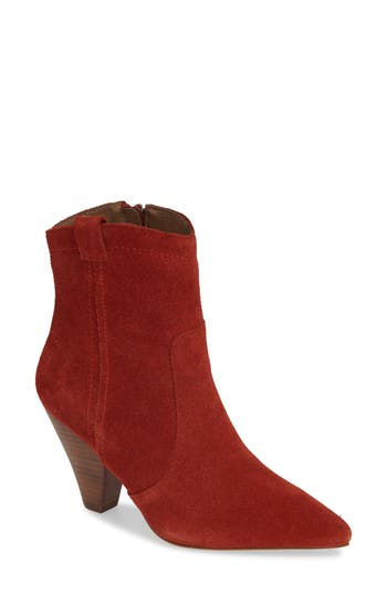 Kensie Kalila Pointy Toe Bootie, Red