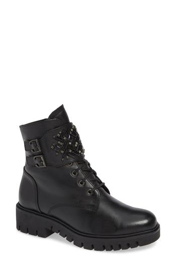 Gabor Fashion Combat Boot- Black