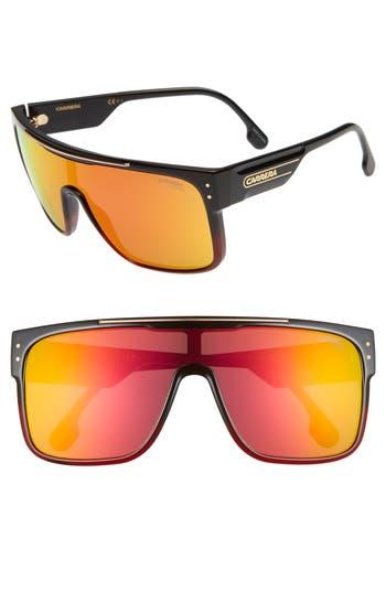 Carrera Eyewear Flagstop Ii 140Mm Flat Top Sunglasses - Black/ Red