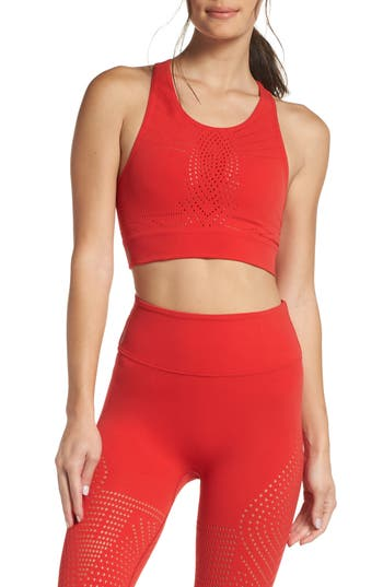 Free People Fp Movement Ecology Sports Bra, Red
