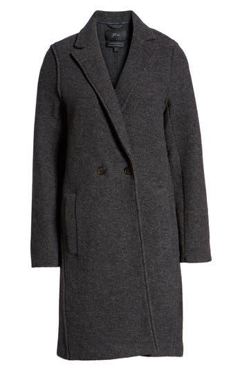 Plus Size J.crew Daphne Boiled Wool Topcoat, Grey