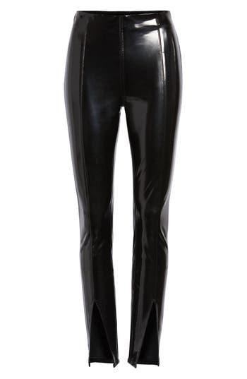 Blanknyc Patent Faux Leather Leggings, Black
