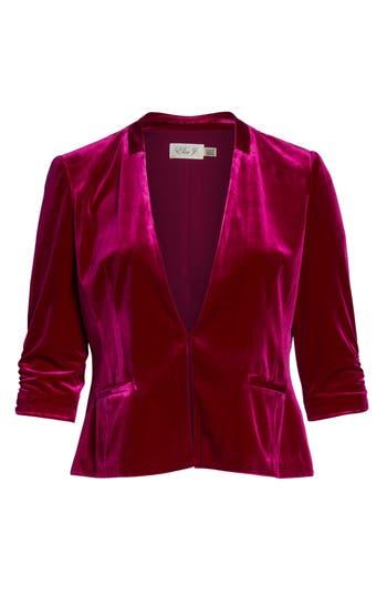 Vintage Coats & Jackets | Retro Coats and Jackets Womens Eliza J Velvet Blazer Size X-Large - Red $118.00 AT vintagedancer.com