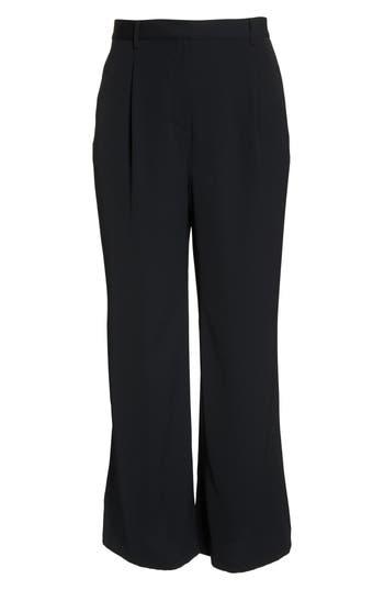 Plus Size Leith High Waist Flare Pants, Black