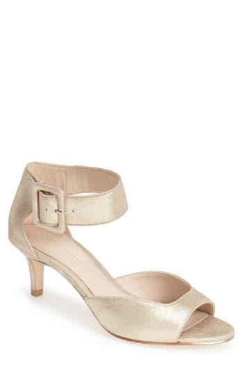 Women's Pelle Moda 'Berlin' Sandal, Size 8 M - Metallic