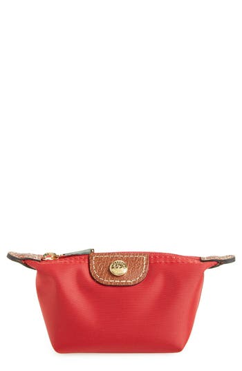 Women's Longchamp 'Le Pliage' Coin Purse - Red