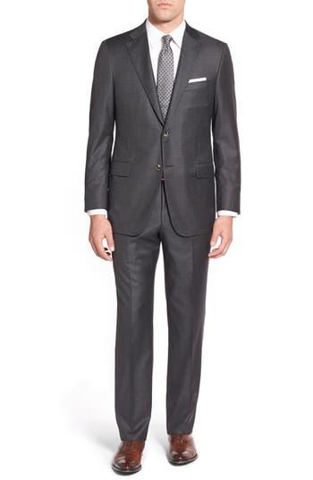 Men's Hickey Freeman 'Beacon B' Classic Fit Windowpane Wool Suit
