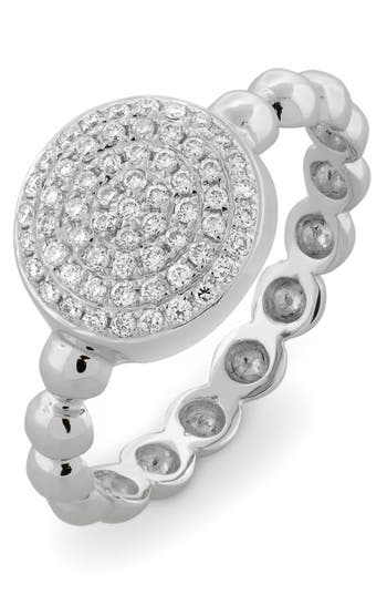 Women's Bony Levy Aurora Diamond Pavé Circle Ring (Nordstrom Exclusive)