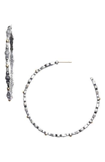Women's Konstantino 'Silver & Gold Classic' Hoop Earrings