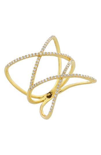 Women's Bony Levy Diamond Double Crisscross Ring (Nordstrom Exclusive)