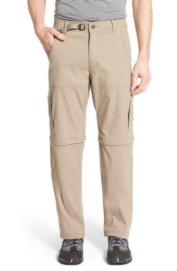 Prana Zion Stretch Convertible Cargo Hiking Pants, Beige