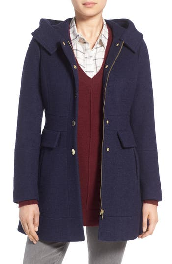 Women's Guess 'Mod' Hooded Jacket, Size Small - Blue