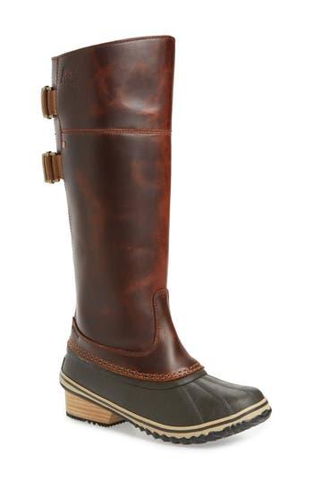Women's Sorel 'Slimpack Ii' Waterproof Riding Boot, Size 5 M - Brown