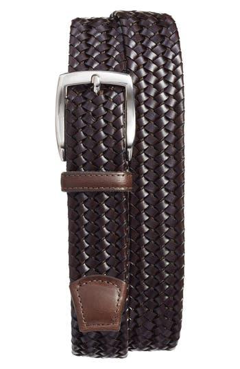 Big & Tall Torino Belts Woven Leather Belt, Brown