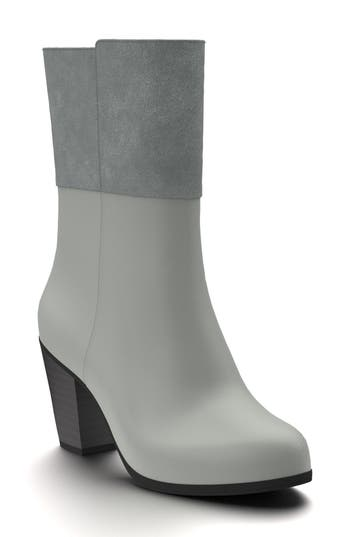 Shoes Of Prey Block Heel Boot, Grey