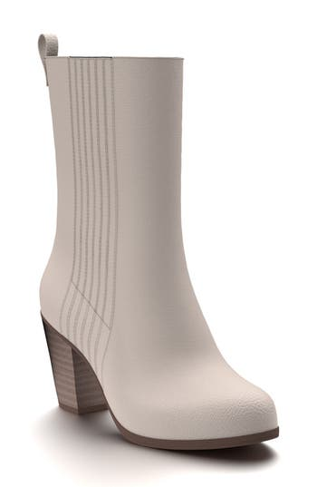 Shoes Of Prey Mid Calf Boot - Beige