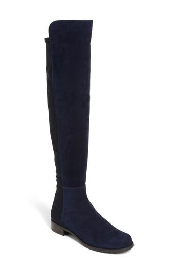 Stuart Weitzman 5050 Over The Knee Leather Boot, Blue