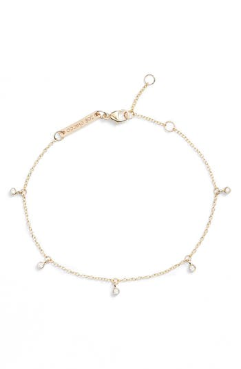 Zoe Chicco Dangling Diamond Bracelet
