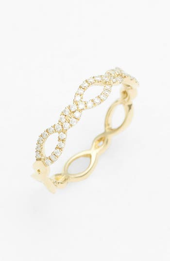 Women's Bony Levy Stackable Weave Diamond Ring (Nordstrom Exclusive)