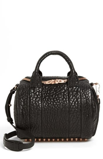 Alexander Wang 'Rockie - Rose Gold' Leather Crossbody Satchel -