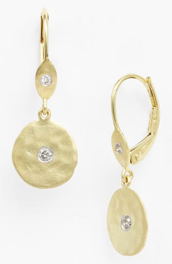 Women's Meira T Charmed Diamond Hammered Drop Earrings