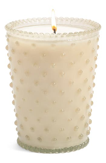Simpatico Hobnail Glass Candle, Size One Size - White