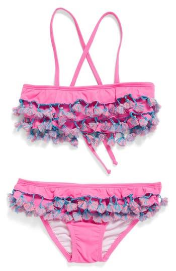 Girl's Pilyq Tassel Ruffle Two-Piece Swimsuit