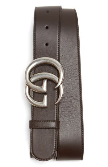 Men's Gucci Logo Leather Belt